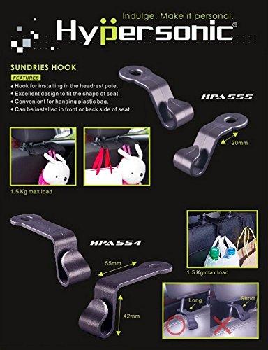 Hyper Sonic® hpa554 pratique universelle Supports Crochets à installer sur support, pour tous les Tête avant ou arrière de la tête de 8-12,5 mm Convient, Sund Ries Hook