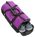 BORA.sportswear Sporttasche Mesh 25L mit Schuhfach und Mesh-Oberseite Belüftung - klein mit abgetrenntem Nassfach, Wertfach und Schultergurt - in Pink und Lila (Lila)