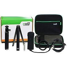 EEEKit todo en 1kit de accesorios para Ricoh Theta S, funda de transporte, selfie stick, Mini trípode, Securiy correa de muñeca, de silicona, Micro HDMI a HDMI cable...