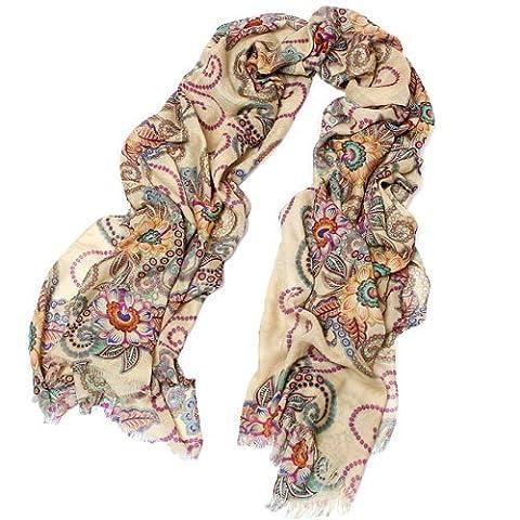 Femme Rétro Vintage classique style écharpes Châle Wrap par Waygo