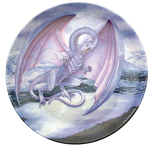 Der Schnee Drache Die Dragons of enchantica Platte Drache Teller cp1481 (Mint Schnee)