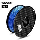 TIANSE Blau 3D PLA Filament 1,75 mm für 3D Drucker 1 kg, Dimensionsgenauigkeit +/- 0,03 mm MEHRWEG