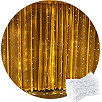 Curtain Light,CORST® 2M x 2M Warm White Curtain Fairy Lights Waterproof Xmas Light Icicle Fairy Lights,204 LED,8Modes, Safety Voltage For Party Indoor Outdoor Room Wall Window Decor