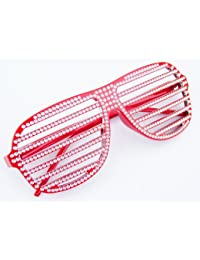 NERD® Club Strass Look Brille 100% Original Shades Rot Inklusive Brillen Beutel