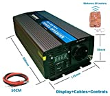 Inversor 1000W/2000W Onda Pura Convertidor 12V to AC 220V pure power Inverter con display
