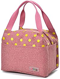 Backzubehör Huihuger Lovely tragbar Oxford Wasserdicht Streifen Wild Picknick Isolierung Lunch Bag Rose Rot