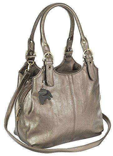 Big Handbag Shop, Borsa a mano donna Metallisch (Plain S108)