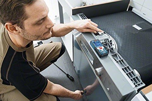 Bosch Professional GLM 50 C Laser-Entfernungsmesser (Messbereich 0,05-50 m, Bluetooth Schnittstelle für Apps (iOS, Android), drehbares Farb-Display, Schutztasche, IP54 Staub- und Spritzwasser-Schutz) 0601072C00 - 3