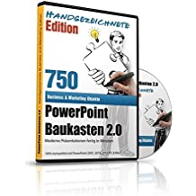 PowerPoint Baukasten 2.0 - Handgezeichnete Edition - Mit über 750+ kunstvollen PowerPoint Vorlagen: - Für Business, Kommunikation, Marketing, Vertrieb, Verkauf, Sales, Manager, Sekretärinnen, Innendienst, Büromanagement, Management, Redner, Speaker, Personal, Teams, Vo