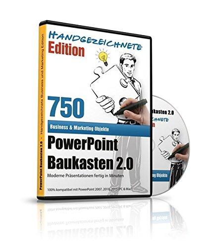 PowerPoint Baukasten 2.0 - Handgezeichnete Edition - Mit über 750+ kunstvollen PowerPoint Vorlagen: - Für Business, Kommunikation, Marketing, ... Redner, Speaker, Personal, Teams, Vo