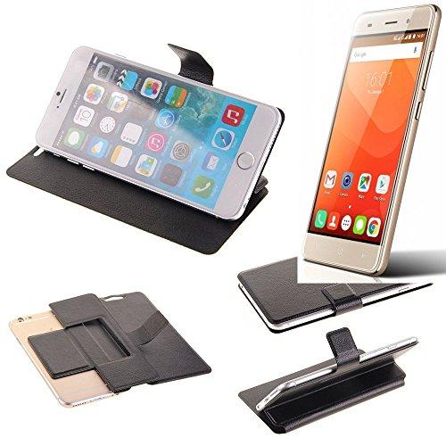 K-S-Trade Schutz Hülle für Haier Leisure L56 Schutzhülle Flip Cover Handy Wallet Case Slim Handyhülle bookstyle schwarz