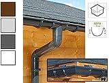 Dachrinnen/ Regenrinnen Set | viereckiges Dach (4 Seiten) | GD16 | in anthrazit, weiß, braun oder grau! (Umriss bis 17.50 m (Kompl. Set), Anthrazit)