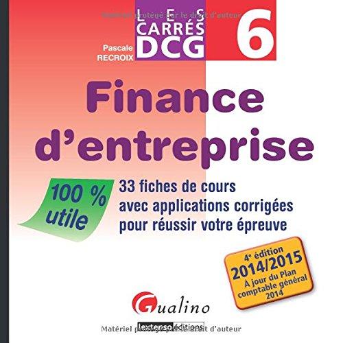 Carres Dcg 6 - Finance d'Entreprise