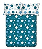 Bombay Dyeing Blue Abstract 100% Cotton Double Bedsheet with 2 Pillow Covers