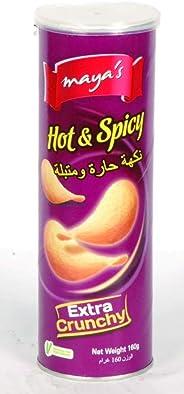Maya's Potato Chips Hot & Spicy 160gm