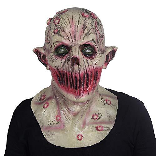 LXIANGP Halloween Latex Maske Kopfbedeckungen Horror Scary Realistische Film Thema Party Ball Requisiten