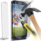 Spyrox Premium aus gehärtetem Glas Crystal Clear LCD-Schutzfolien Packs mit Poliertuch & Anwendung Karte für Samsung Galaxy S4 i9500 Packung mit 1