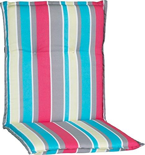 Beo Gartenstuhlauflage Polster für Niederlehner M724 Streifen hellblau und pink
