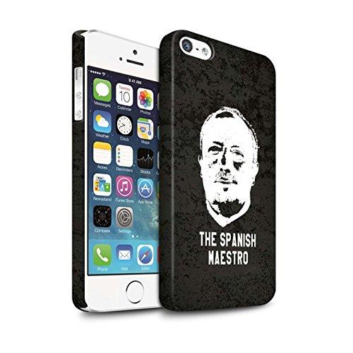 Officiel Newcastle United FC Coque / Clipser Matte Etui pour Apple iPhone 5/5S / Maestro Espagnol Design / NUFC Rafa Benítez Collection Maestro Espagnol