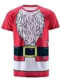 Funny World Maglietta T-shirt Costume da Babbo Natale di Uomo (L)