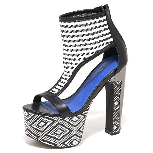 8833N sandalo JEFFREY CAMPBELL ZASU nero bianco sandali donna sandals women Nero/Bianco