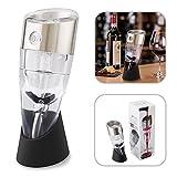amzdeal-Belüfter Wein mit Rotation, einstellbare Geschwindigkeit, Dekanter zu wichtig, Weine Rote und weißen, ideal für Haus, Bar, Restaurant oder als Geschenk