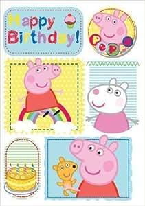 Peppa Pig Carte d'anniversaire d'anniversaire avec Bubbly Fun badge (importation en anglais)