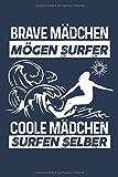 Coole Mädchen surfen selber: Notizbuch / Notizheft für Surferin Surf Surfer-in Surfen Surfbrett A5 (6x9in) liniert mit Linien