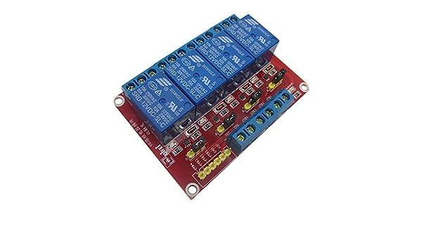 Homyl Optoaccoppiatore Modulo Rele A 4 Canali 12V Con LED Adatto Arduino Raspberry Pi Arm Avr Dsp Pic