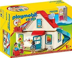 PLAYMOBIL Casa, con Timbre Real y Efecto de Sonido, A Partir de 18 Meses (1.2.3 70129 )