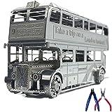 Kreekr 3D Metal Puzzle London Bus Maquette DIY Laser Cut Assemble Jouet de Puzzle avec 2 Pinces