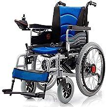 Chair Silla de Ruedas eléctrica Plegable con Motor Doble con 2 baterías de hasta 15 Millas