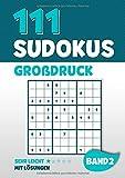 111 Sudokus Großdruck: Rätselheft mit 111 sehr leichten Sudoku Rätsel im 9x9 Format mit Großer Schrift und Lösungen | DIN A4 | Band 2 - Visufactum Rätsel