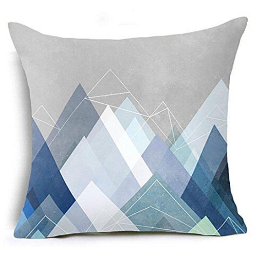 Kissenbezug 45 x 45 cm Geometrische Kissen Fall Taille Kissenbezug Sofa Home Decor kopfkissenbezüge LuckyGirls (H)