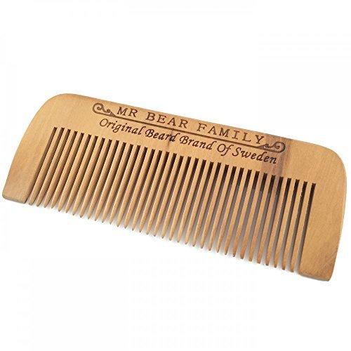 Mr. Bear Family Beard Comb Peigne en bois pour la barbe