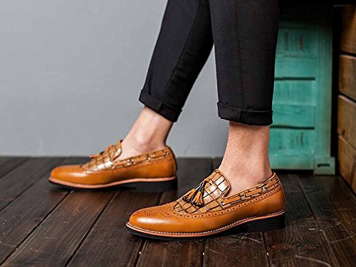 Hommes Casual Slip On Brogue Populaire Tapis Confortable Pointu En