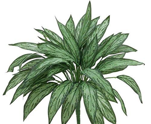 AUSLAUF Aglaonema, hell/dunkelgrün, 45cm hoch – künstliche Blumen Kunstpflanzen Seidenblumen