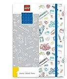 Lego - LG51842 - Loisir créatif - Papèterie - Journal avec Plaque Briques, Bleu