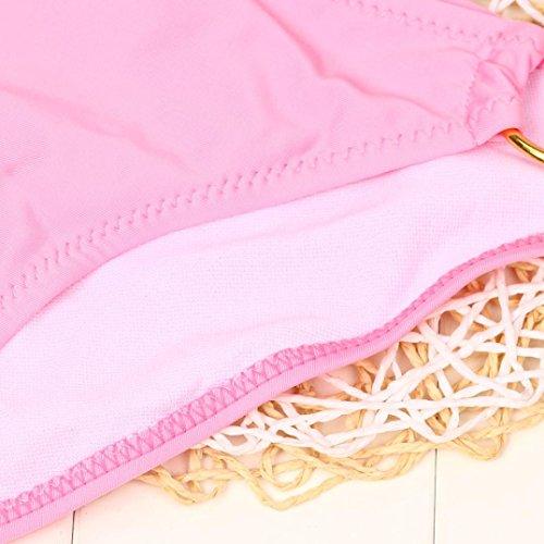 Overdose Damen Push Up Bikini-Sets Tankini Slip Beaderock Neckholder Bandeau Badeanzug Bademode swimwear swimsuits H-Rosa