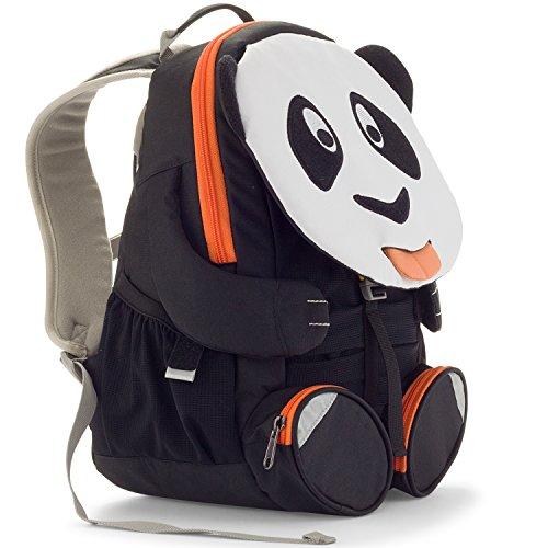 Affenzahn Kinderrucksack mit Brustgurt Paul Panda für 3-5 Jährige Jungen und Mädchen im Kindergarten oder Kita - Weiß