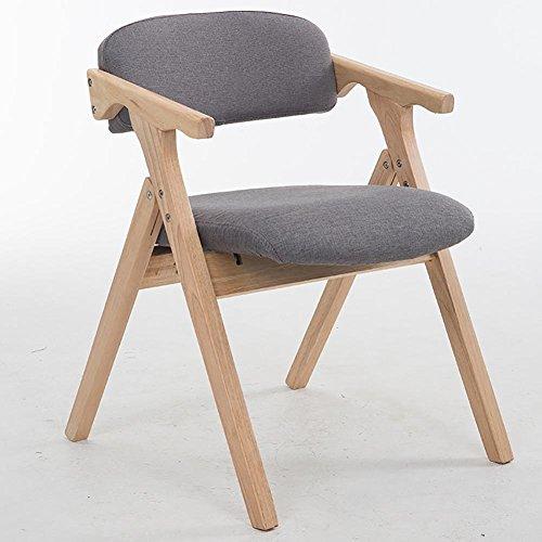 KSUNGB Klappbarer Stuhl aus Holz Massivholz Essensstuhl Salon Balkonstühle Studentenstuhl Sessel...