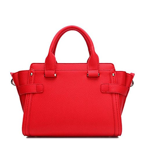 Damen Leder Mode Litchi Muster Platin Tasche Handtasche Messenger Bag Schulter Tasche Casual Wild Elegant Grey