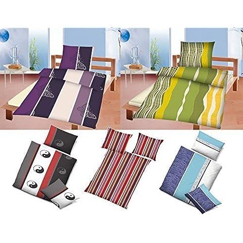 Ropa de cama Microfibra diferentes patrones - Azul con estampado de trazos