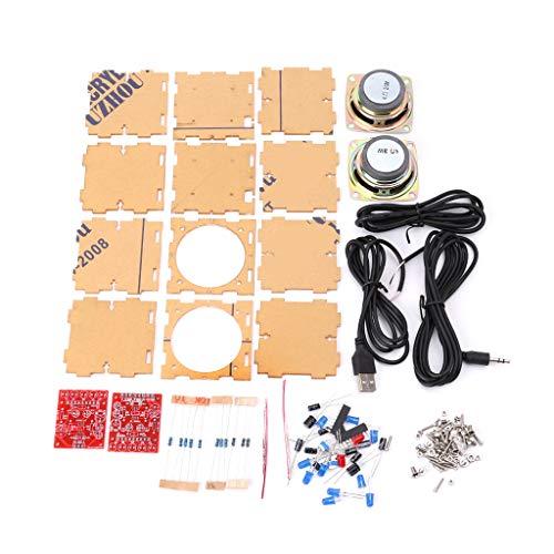 JENOR Mini 3W Lautsprecher Box DIY Kit Mit Transparenten Shell-Computer-Audio-Elektronikkomponenten -