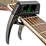 Guitar Capo Tuner, 2 in 1 Electric Guitar Capo Tuner with LCD Screen