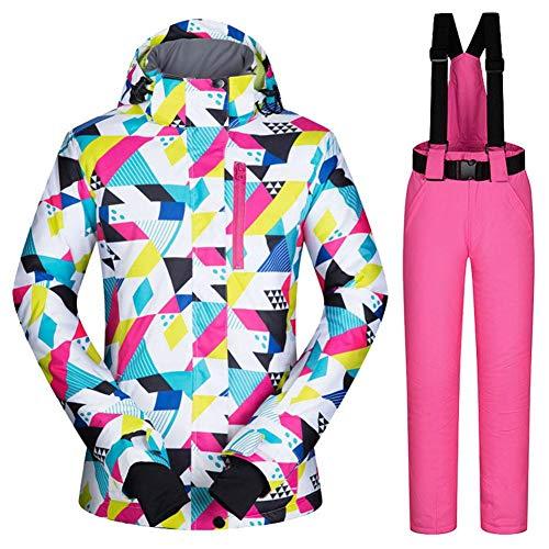 G-lucky Camuflaje Traje de Esqui Mujer ,Impermeable, Cortaviento y cálido Conjuntos de Chaqueta y Pantalon