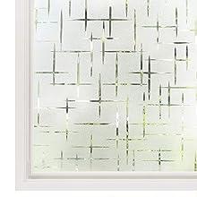 rabbitgoo Pellicola Per Finestre Vetri-3D Trasversale, Autoadesive,Statica, Anti-UV Per Cucina,Ufficio,Camera da letto0.9Mx 2M