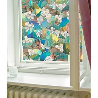 Artscape Mountain Blossom Window Film 61 x 92 cm, Vinyl, Blue, 91.4 x 61 x 0.02 cm