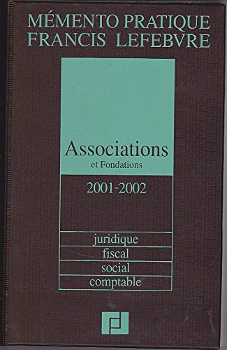 Associations et fondations : Edition 2001-2002