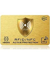 RFID/NFC Karten Schutz Bankkarte ohne Kontakt, 1 Suffit, Keine Hüllen und Hüllen, die Geldbörse ist vollständig geschützt, Kreditkarte, Blaue Karten, CB, Pass